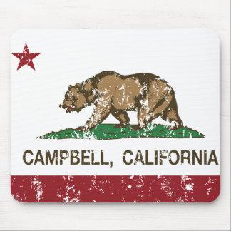 bandera Campbell de California apenada Tapete De Ratón
