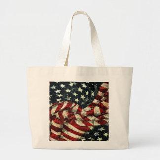 Bandera-Camuflaje americano Bolsa Tela Grande