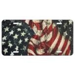 Bandera-Camuflaje americano Placa De Matrícula