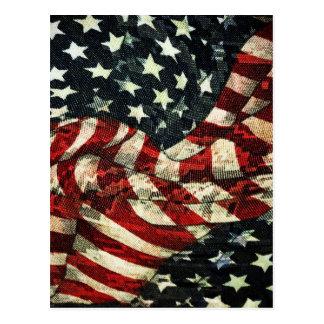 Bandera-Camuflaje americano Postales