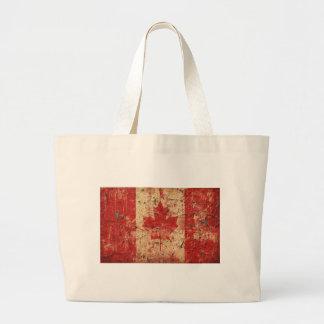 Bandera Canadá Bolsa Tela Grande