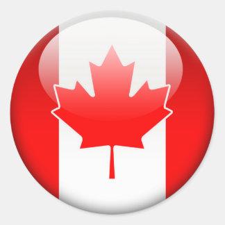 Bandera canadiense 2,0 etiquetas