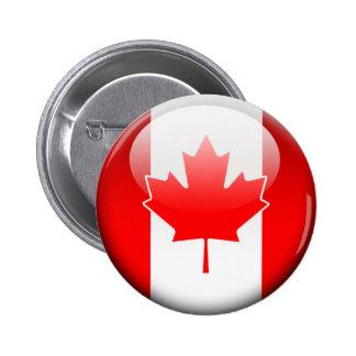 Bandera canadiense 2,0 pin redondo de 2 pulgadas