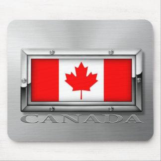 Bandera canadiense (acero) alfombrillas de ratón