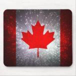 Bandera canadiense alfombrillas de raton