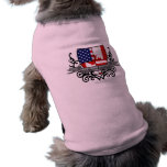 Bandera Canadiense-Americana del escudo Ropa Para Mascota