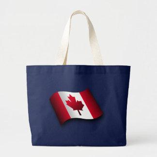 Bandera canadiense bolsa de tela grande