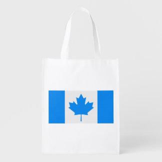 Bandera canadiense bolsas reutilizables