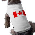 Bandera canadiense camisas de mascota