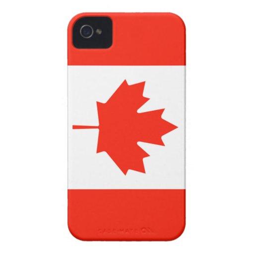 Bandera canadiense carcasa para iPhone 4 de Case-Mate