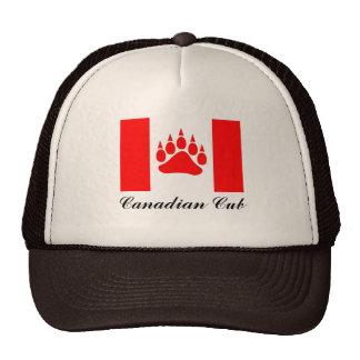 Bandera canadiense de Cub del canadiense con la pa Gorra