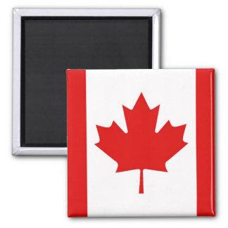 Bandera canadiense de la hoja de arce de Canadá Imán Cuadrado