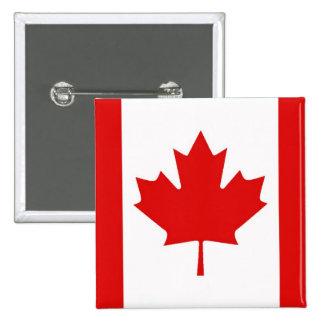 Bandera canadiense de la hoja de arce de Canadá Pin Cuadrado