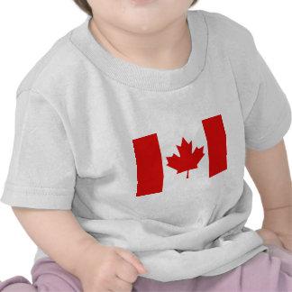 Bandera canadiense de la hoja de arce de Canadá Camisetas