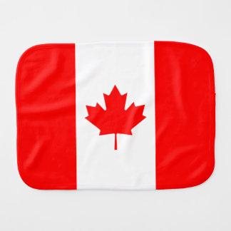 Bandera canadiense de la hoja de arce de Canadá Paños De Bebé