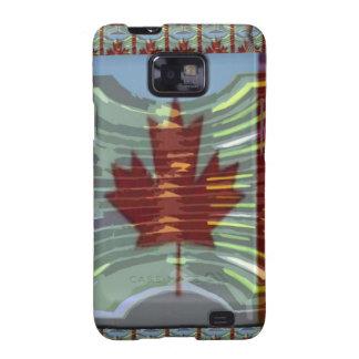 Bandera canadiense de la hoja de arce galaxy SII carcasas