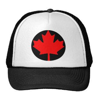 Bandera canadiense de la hoja de arce gorros bordados