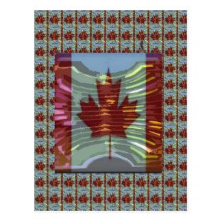 Bandera canadiense de la hoja de arce postal