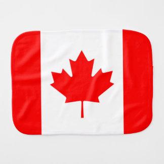 Bandera canadiense de la hoja de arce roja Burpee Paños Para Bebé