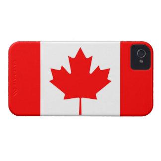 Bandera canadiense de la hoja de arce roja IPhone iPhone 4 Case-Mate Cárcasas