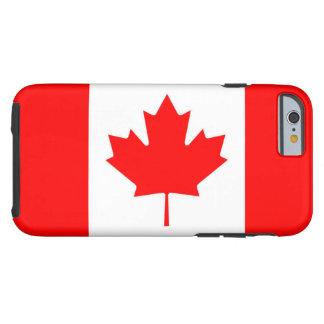 Bandera canadiense de la hoja de arce roja IPhone Funda De iPhone 6 Tough