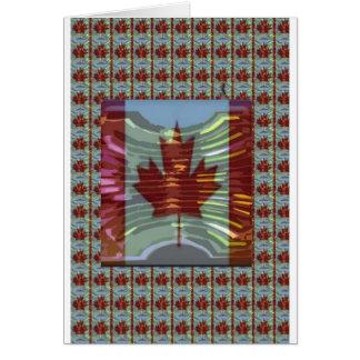 Bandera canadiense de la hoja de arce tarjeta de felicitación