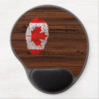 Bandera canadiense de la huella dactilar del tacto alfombrillas con gel