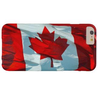 Bandera canadiense de la imagen patriótica de la funda de iPhone 6 plus barely there