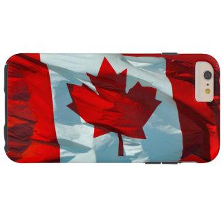 Bandera canadiense de la imagen patriótica de la funda de iPhone 6 plus tough