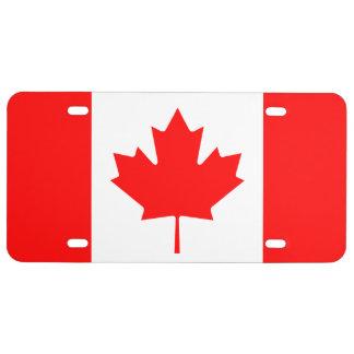 Bandera canadiense de la placa de la hoja de arce placa de matrícula
