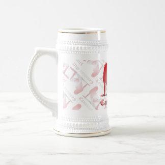 Bandera canadiense de la silueta del chica jarra de cerveza