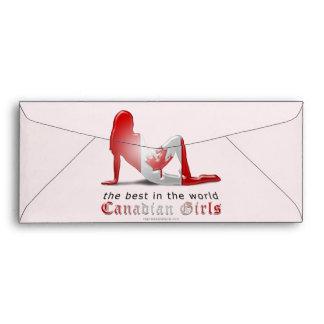 Bandera canadiense de la silueta del chica