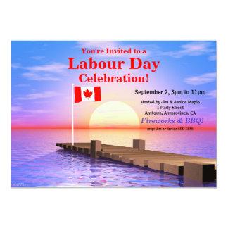 Bandera canadiense del fiesta del día de trabajo comunicado