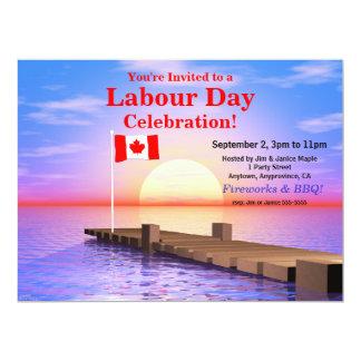 Bandera canadiense del fiesta del día de trabajo comunicados personales
