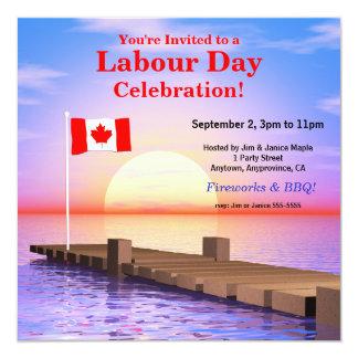 Bandera canadiense del fiesta del día de trabajo anuncio personalizado