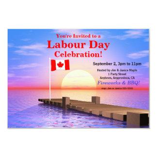 Bandera canadiense del fiesta del día de trabajo anuncios