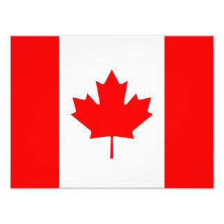 Bandera canadiense del l'Unifolié rojo de la hoja Fotografía