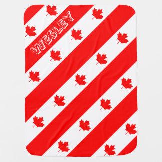 Bandera canadiense del l'Unifolié rojo de la hoja Mantas De Bebé