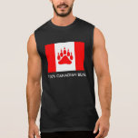 Bandera canadiense del oso canadiense del 100% con playera sin mangas