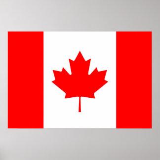 Bandera canadiense del poster rojo de la hoja de