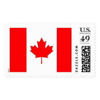 Bandera canadiense del sello de la hoja de arce de