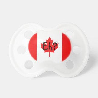 ¿Bandera canadiense Eh? Chupetes Para Bebés