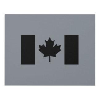 Bandera canadiense en gráfico negro cuadro