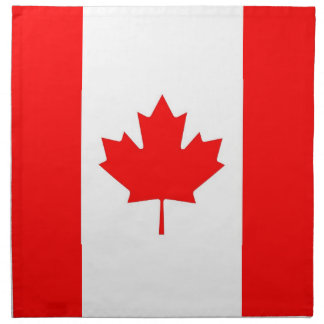 Bandera canadiense en la servilleta de MoJo
