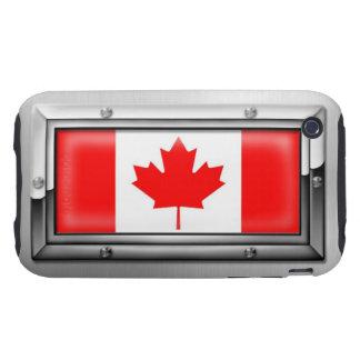 Bandera canadiense en un marco de acero iPhone 3 tough coberturas