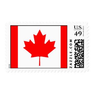 Bandera canadiense estampilla
