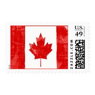 Bandera canadiense estampillas