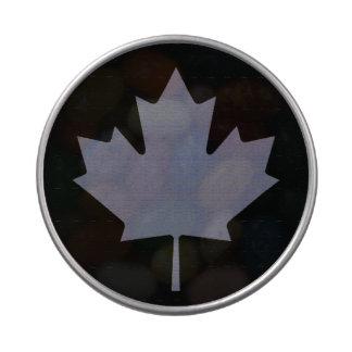 Bandera canadiense frascos de dulces
