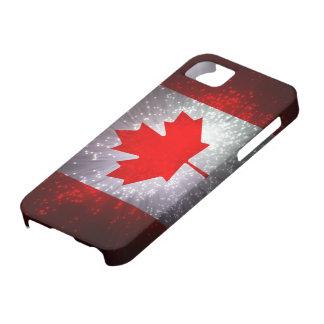 Bandera canadiense iPhone 5 coberturas