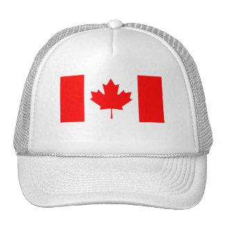 Bandera canadiense gorras